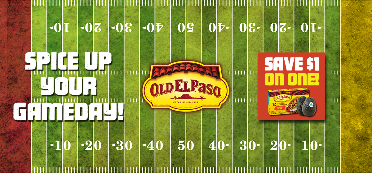 Spice Up Your Gameday with Old El Paso - Save $1 on 2
