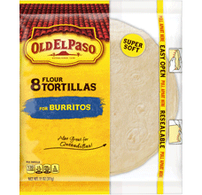 Flour Tortillas 8 Count for Burritos