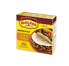 Soft Tortilla Taco Boats Dinner Kit