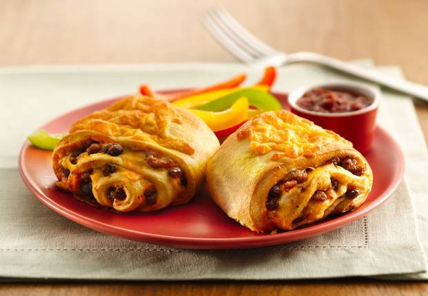 Beef and Bean Burritos (Cooking for Two)