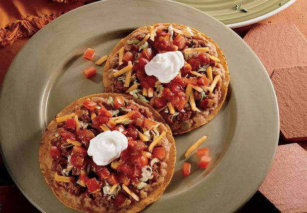 Beef and Bean Tostadas