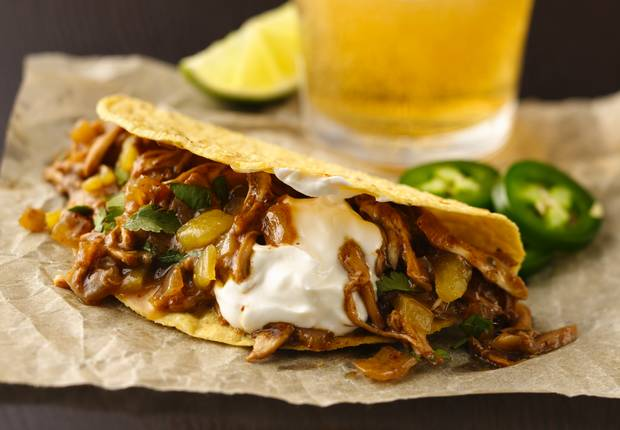 Beer Braised Chicken Tacos Recipe