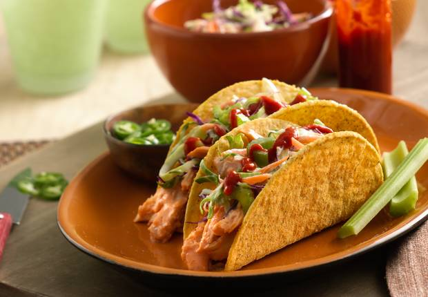 Buffalo Chicken Ranch Tacos