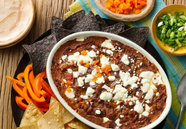 Cheesy Refried Black Bean Dip