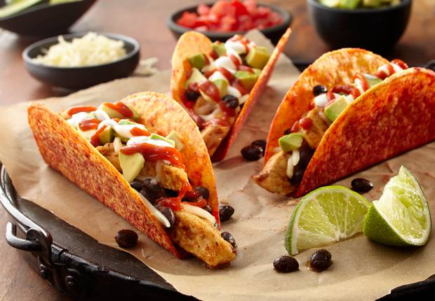 Chicken and Black Bean Spicy Tacos