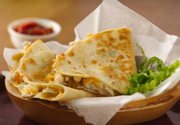 Chicken Chile Quesadillas