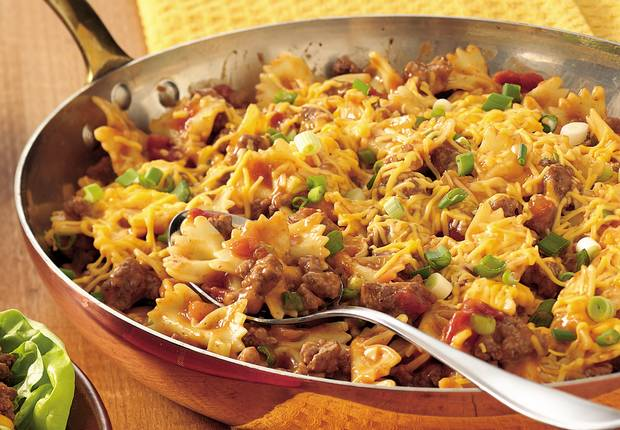 Easy Cheesy Beef and Bow Ties Recipe