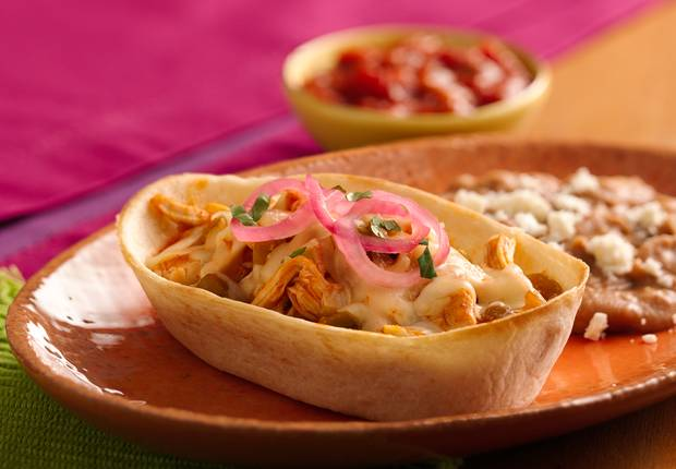 Easy Chicken Enchilada Boats
