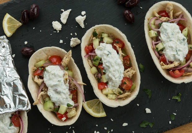 Easy Chicken Gyros Taco Boats™