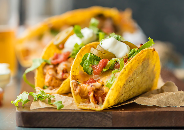 Easy Oven Baked Spicy Chicken Tacos