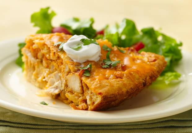 Impossibly Easy Chicken Taco Pie Recipe