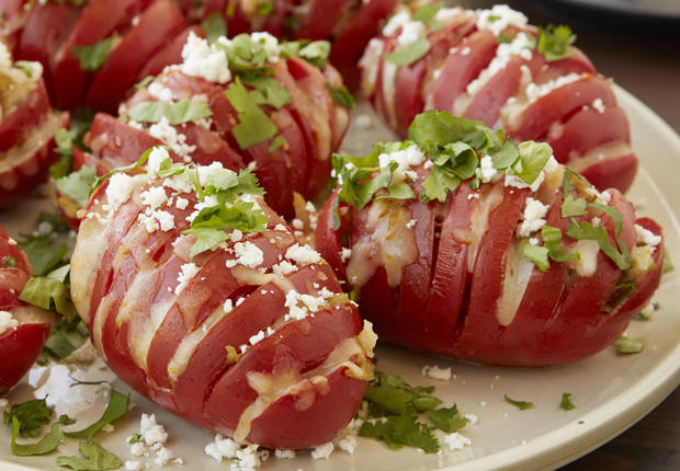 Mexican Hasselback Tomatoes