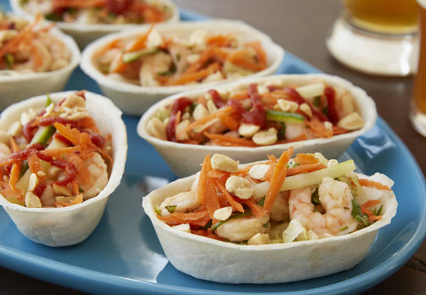 Shrimp Spring Roll Mini Taco Boats