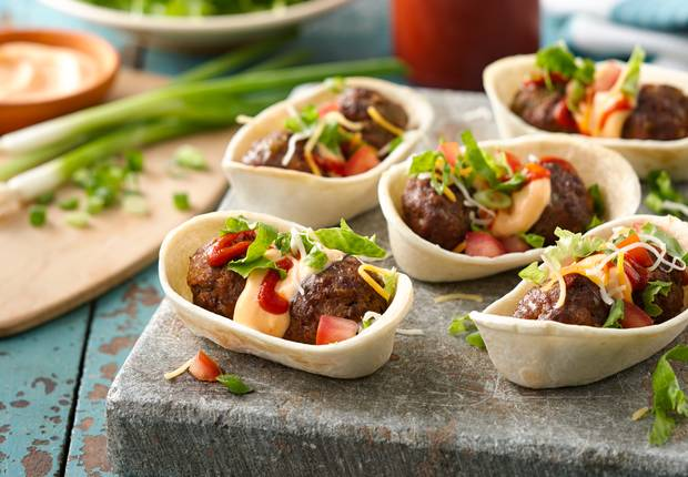 Sriracha Meatball Mini Boats