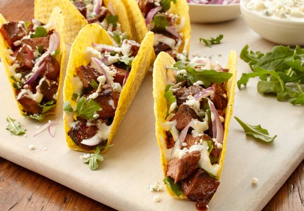 Steakhouse 3 Topping Tacos