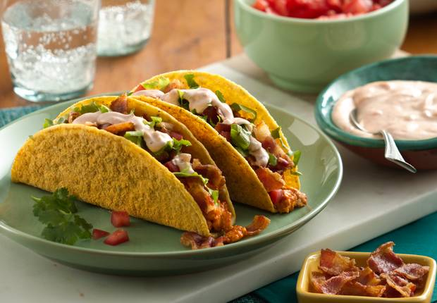 Turkey Club Ranch Tacos
